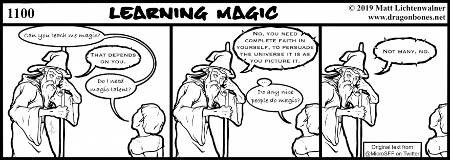 1100 Webcomic - Learning Magic