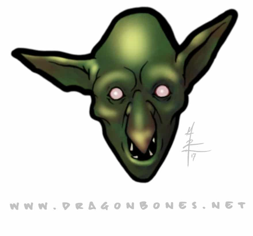 Colored Goblin Head