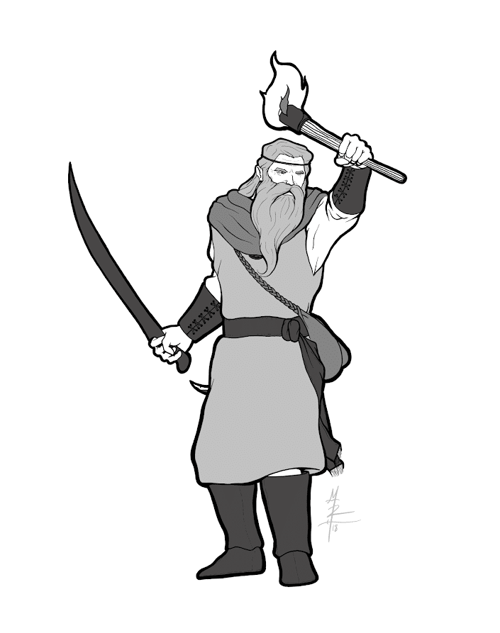 Human Druid Character Portrait