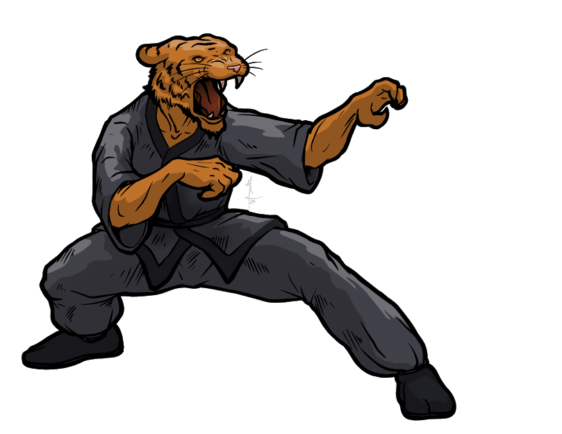 Were Tiger doing kung fu.