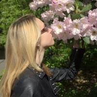 Leela and Flowers