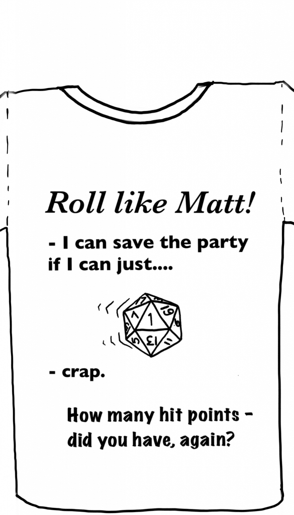 Another t-Shirt design sketch for Tabletop Champions