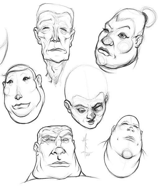 Geometric Shapes Based Portrait Sketches