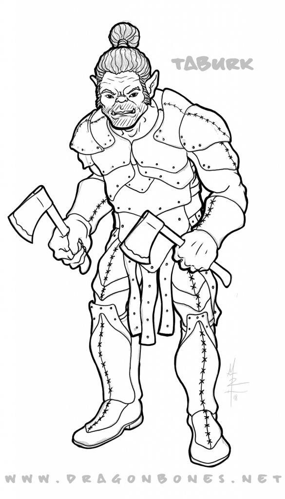 Half Orc Fighter Male Taburk