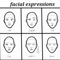 Facial Expressions Illustration Exercise