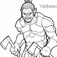 Half Orc Fighter Male Taburk