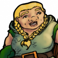 Dwarven female warrior.