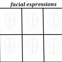 facial expressions template