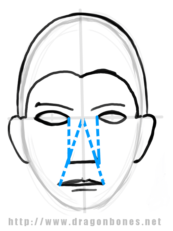 Drawing the Human Face Tutorial 2 - Step 1
