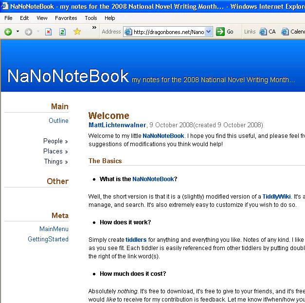 NaNoNoteBook