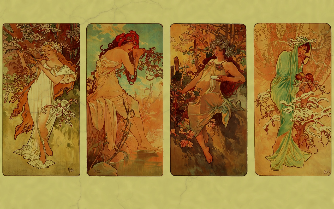 Alphonse Mucha's Seasons