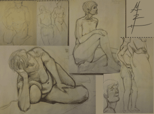 sketchwork from open figure drawing studio Feb 7th, 2011