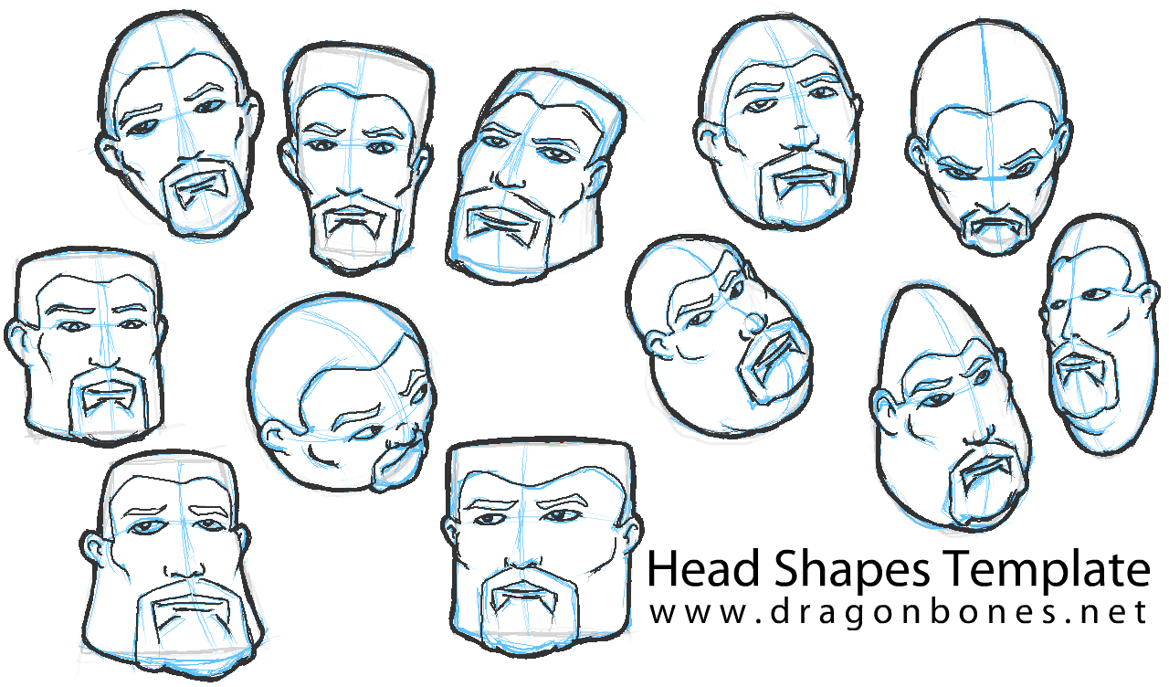 Head Shapes Template Stage 3