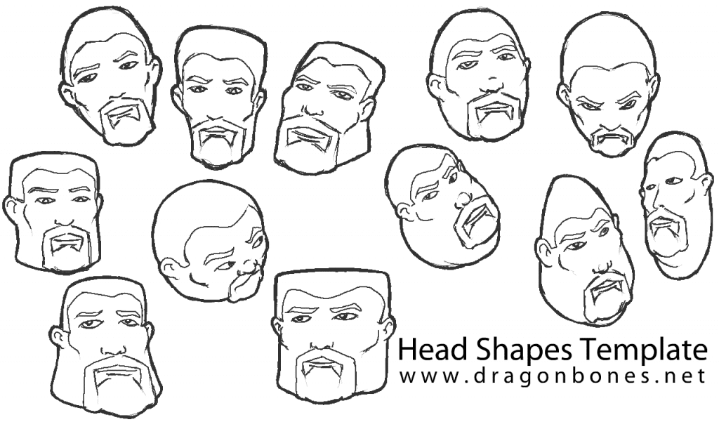 Head Shapes Template Stage Finish