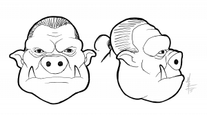 Orc Head Illustration