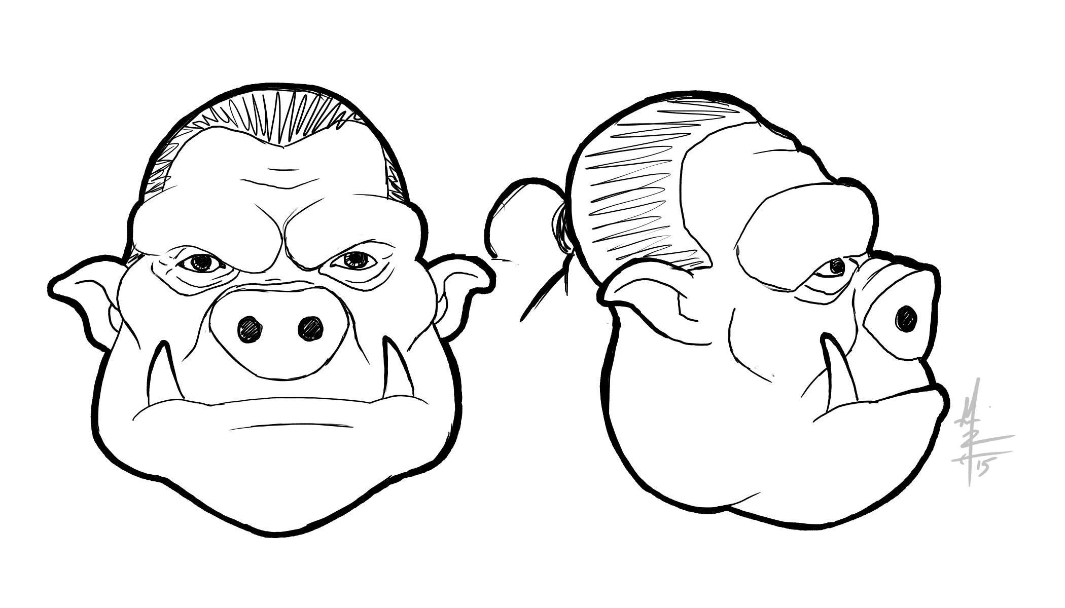 Orc Head Illustration