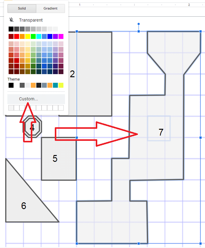 Creating a semi transparent fill for objects in your map.