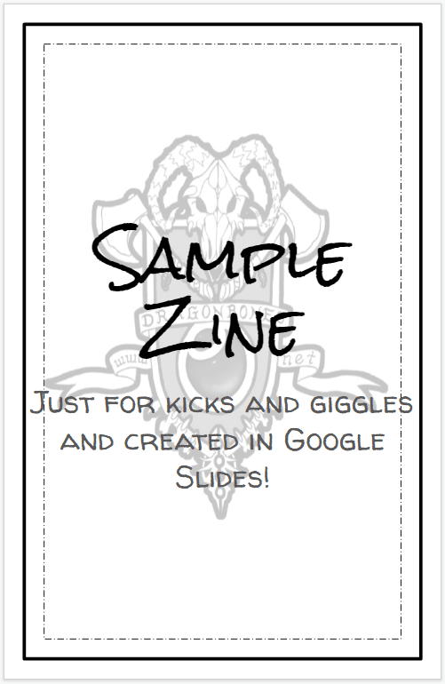 How to Create an RPG Zine in Google Slides