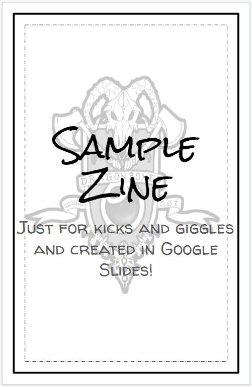 How to create rpg zines using Google Slides.