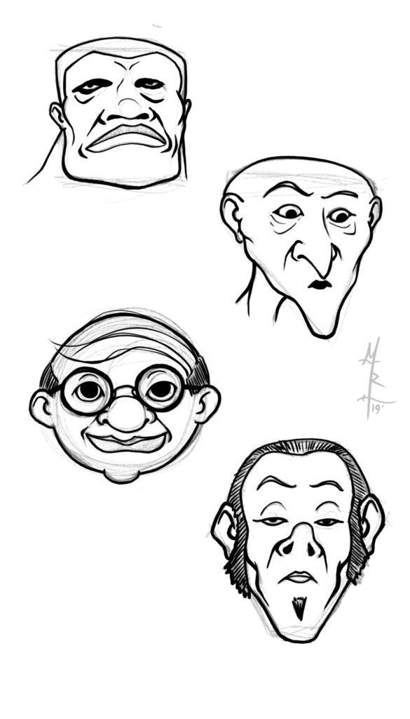 Head Shapes Step 3 - The Inking