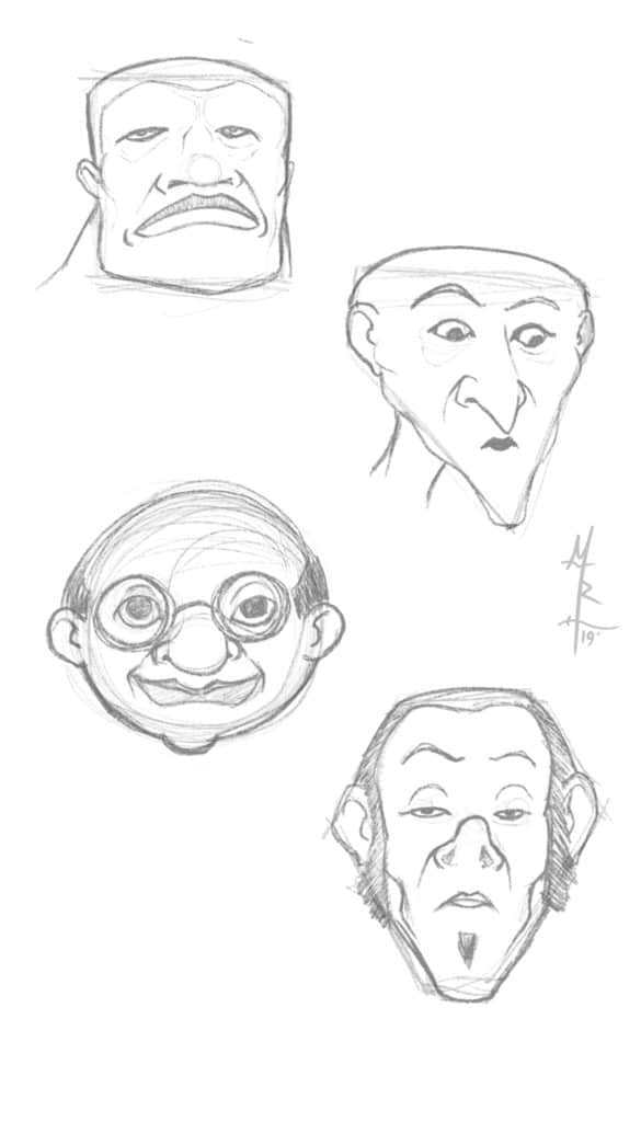 Head Shapes Step 2 - The Rough Sketch