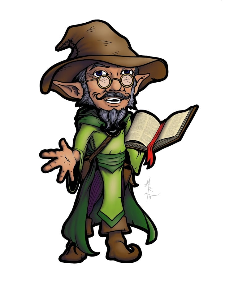 Armel Oakroot - Gnome Magic User and Mascot