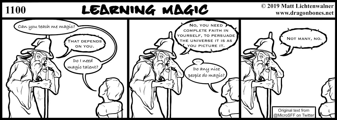 1100 Webcomic Learning Magic