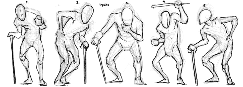 Pose thumbnails of Irpaks for Sean to pick from.