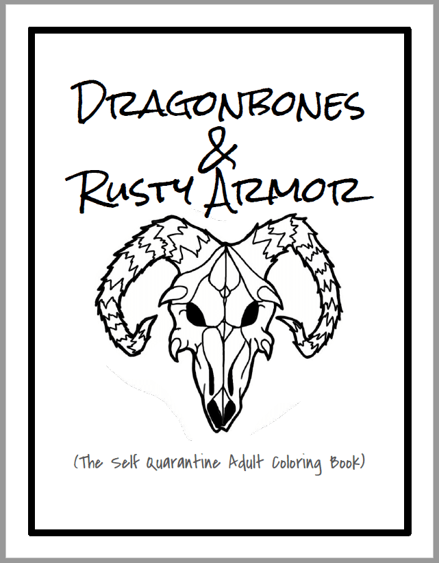 The front cover from the Dragonbones Coloring Book