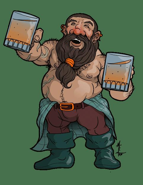 Strondin Greyspine - Dwarven Bartender