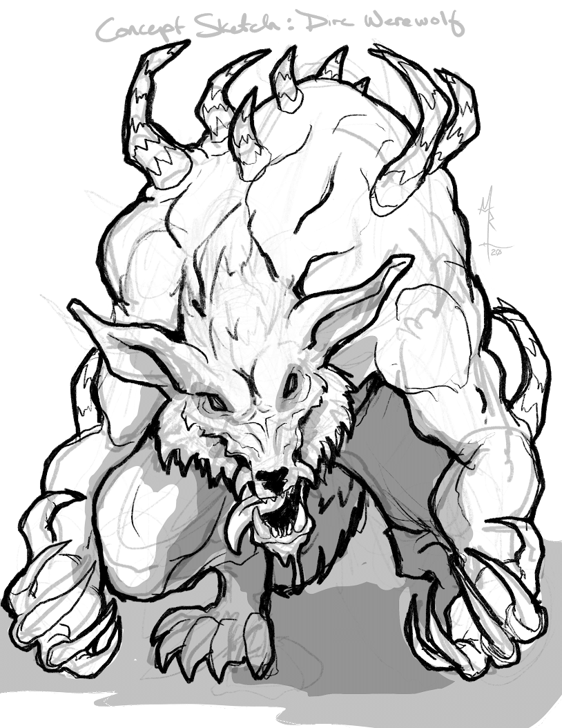 Dire Werewolf Sketch
